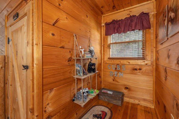 Nook in the loft at Fallin' in Love, a 1 bedroom cabin rental located in Gatlinburg
