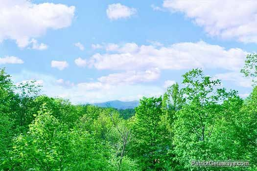 view from the deck at wild bill's hideout a 2 bedroom cabin rental located in gatlinburg