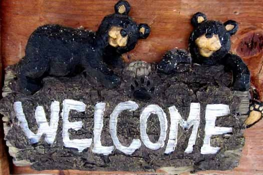 custom welcome sign at smoky mountain romance a 1 bedroom cabin rental located in pigeon forge