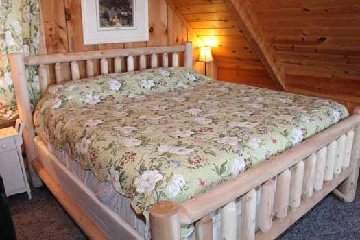 loft with king bed at smoky mountain romance a 1 bedroom cabin rental located in pigeon forge