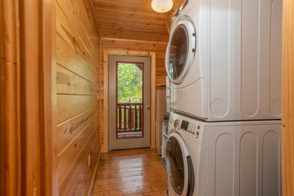 Laundry room at Tennessee Dreamer, a 5 bedroom cabin rental located in Pigeon Forge
