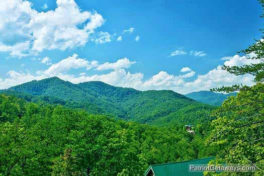 Mountain view at Tennessee Dreamer, a 5 bedroom cabin rental located in Pigeon Forge