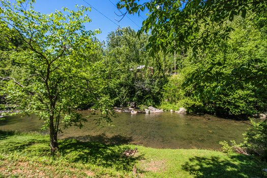 river view at a beautiful river a 1 bedroom cabin rental located in gatlinburg