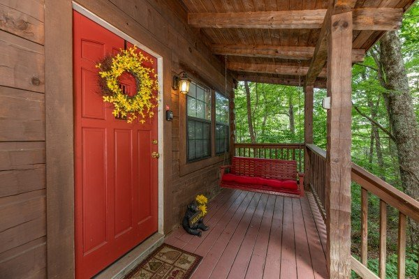 Side door at Cabin on the Mountain, a 2 bedroom cabin rental located in Gatlinburg