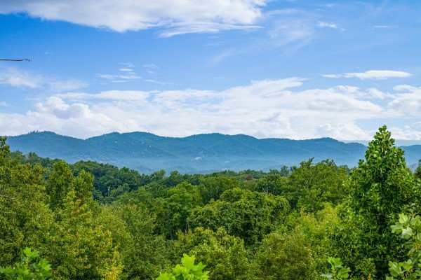 View at Pool & a View, a 2 bedroom cabin rental located in Gatlinburg