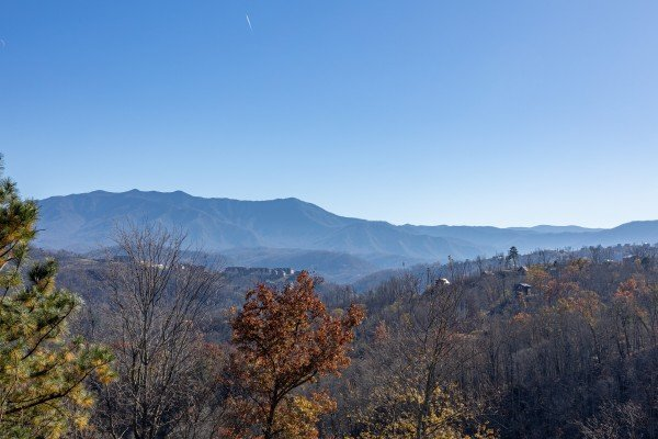 Mount LeConte view at Brink of Heaven, a 2 bedroom cabin rental located in Gatlinburg