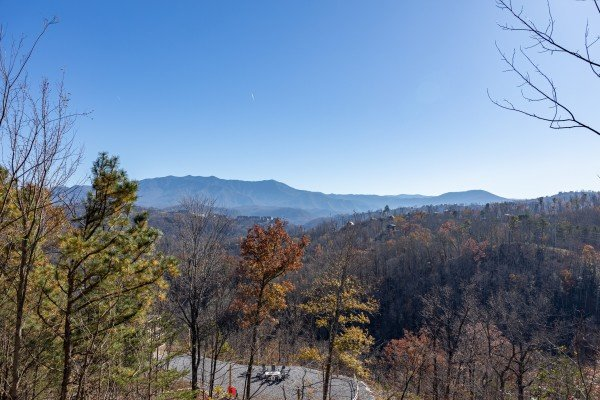 Mountain view at Brink of Heaven, a 2 bedroom cabin rental located in Gatlinburg