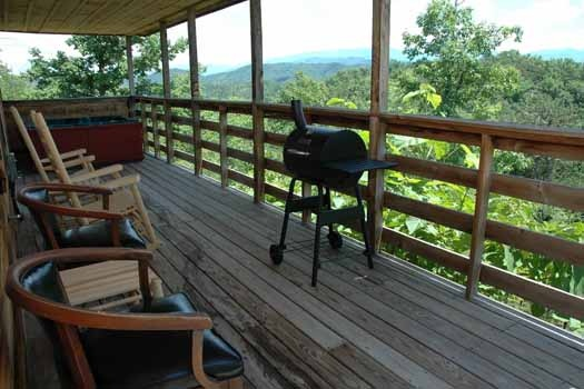 sit back and enjoy the views while cooking at a panoramic view a 1 bedroom cabin rental located in pigeon forge