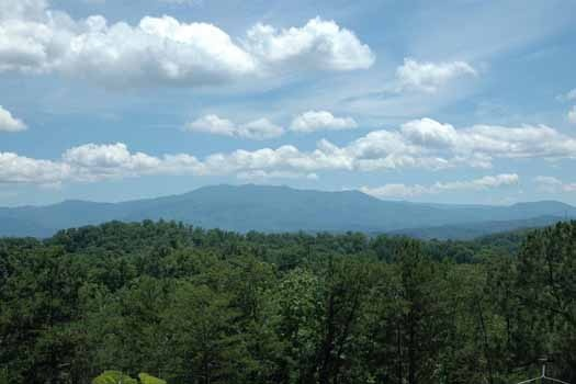 the view of the smoky mountains from a panoramic view a 1 bedroom cabin rental located in pigeon forge