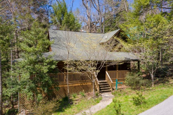 Cabin exterior at Owl Be Back, a 2 bedroom cabin rental located in Gatlinburg