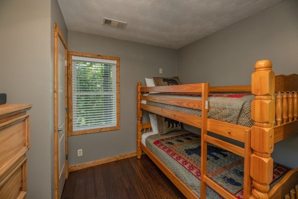 Bunk bed room at Bear Necessities, a 3 bedroom cabin rental located in Pigeon Forge