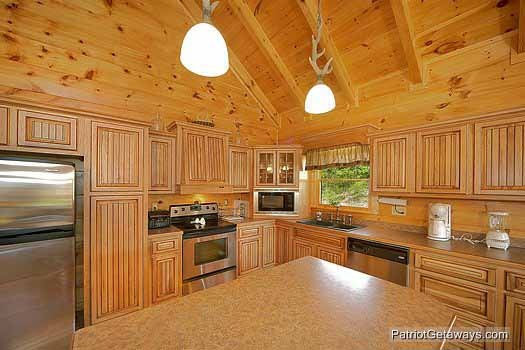 Stainless appliances in the kitchen at Flying with Eagles, a 3-bedroom cabin rental located in Pigeon Forge