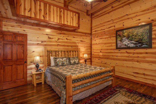 Third bedroom at The Pool Palace, a 5 bedroom cabin rental located in Pigeon Forge