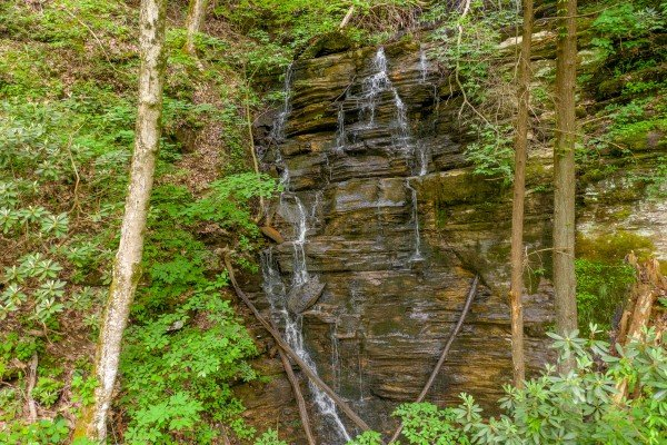 Waterfall at The Lodge at Paradise Falls, a 4 bedroom cabin rental located in Pigeon Forge