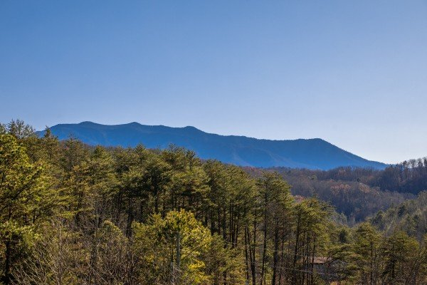 Mount LeConte view at Leconte Nirvana, a 3 bedroom cabin rental located in Pigeon Forge