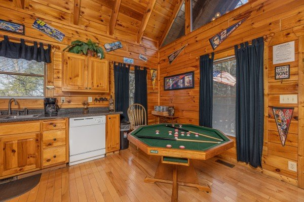 Bumper pool at Nascar Nation, a 2 bedroom cabin rental located in Pigeon Forge