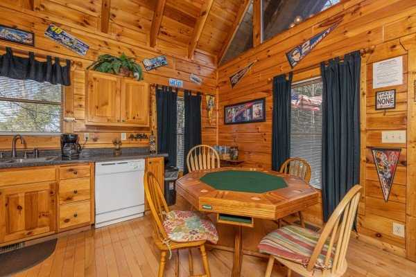 Poker table at Nascar Nation, a 2 bedroom cabin rental located in Pigeon Forge