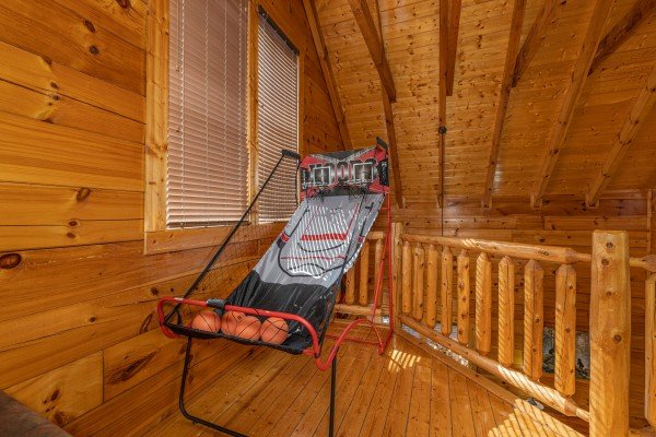 Basketball game at La Kiara a 3 bedroom cabin rental located in Pigeon Forge