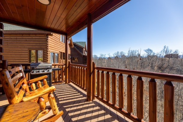 View from the deck at La Kiara a 3 bedroom cabin rental located in Pigeon Forge