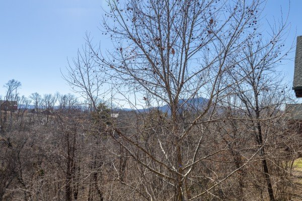 Winter mountain view at La Kiara a 3 bedroom cabin rental located in Pigeon Forge