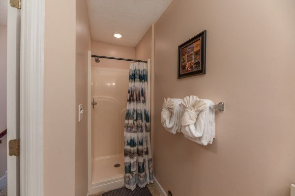 Bathroom with a shower at Bearadise on Baden, a 4 bedroom cabin rental located in Gatlinburg