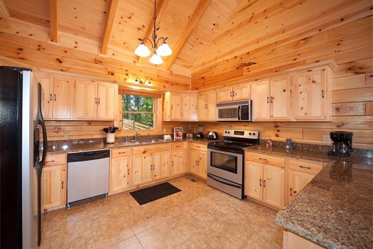 Stainless appliances in the kitchen at Log Wild! A 4 bedroom cabin rental located in Pigeon Forge