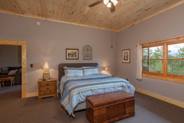Bedroom on the lower level at I Do Love Views, a 3 bedroom cabin rental located in Pigeon Forge