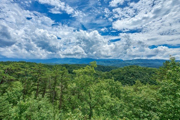 Mountain views at I Do Love Views, a 3 bedroom cabin rental located in Pigeon Forge
