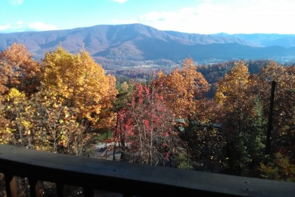 Panoramic mountain views at Alone at the Top, a 3 bedroom cabin rental located in Pigeon Forge