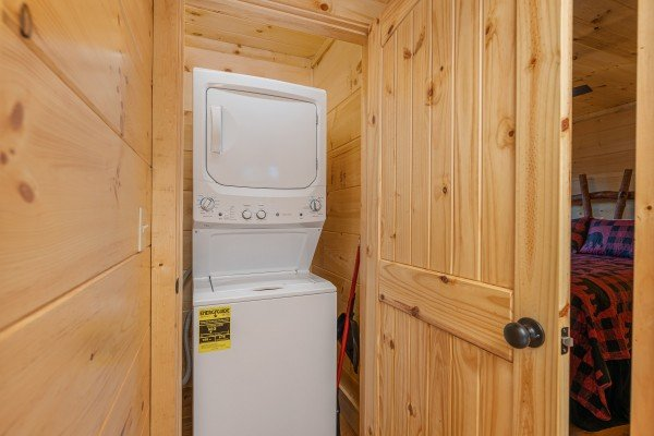 Laundry space at Bessy Bears Cabin, a 2 bedroom cabin rental located inGatlinburg
