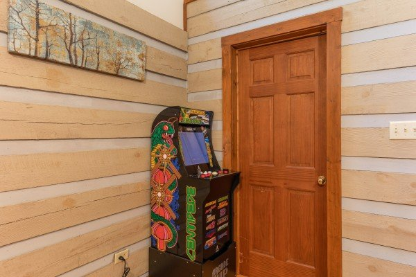 Arcade game at Cabin by the Creekside, a 4 bedroom cabin rental located in Pigeon Forge