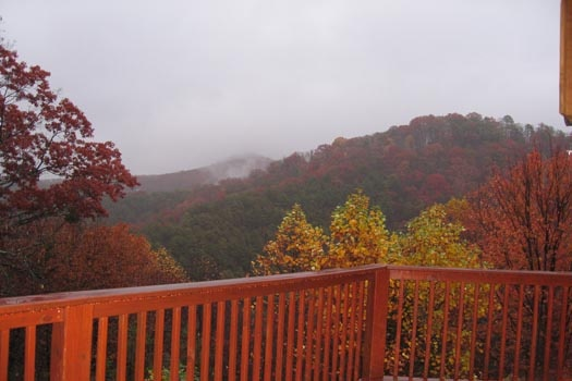 view from the deck of smoky mountains at mountain spirit a 4 bedroom cabin rental located in pigeon forge