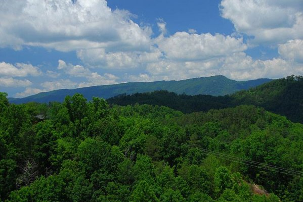Mountain views at Privacy & A View, a 3 bedroom cabin rental located in Pigeon Forge