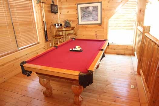 lofted game room at starry starry night a 2 bedroom cabin rental located in pigeon forge