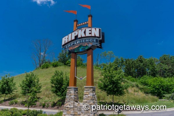 Cal Ripken Experience is near Dream Catcher, a 1-bedroom cabin rental located in Pigeon Forge
