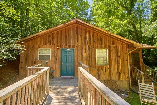 Entry way at at Dream Catcher, a 1-bedroom cabin rental located in Pigeon Forge
