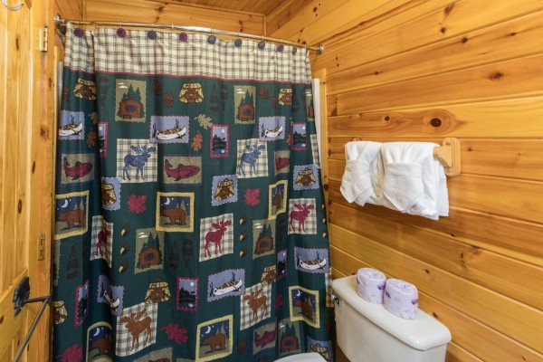 Third bathroom at Bear Country, a 3-bedroom cabin rental located in Pigeon Forge