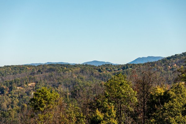 Mountain view at Le Bear Chalet, a 7 bedroom cabin rental located in Gatlinburg
