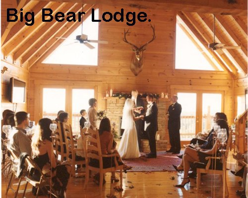 Get married at Big Bear Lodge, a 7-bedroom cabin rental located in Gatlinburg