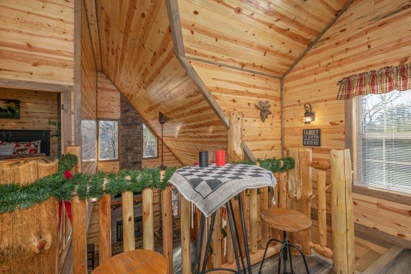 Checker board at Allstar Pool Lodge, a 4 bedroom cabin rental located in Pigeon Forge