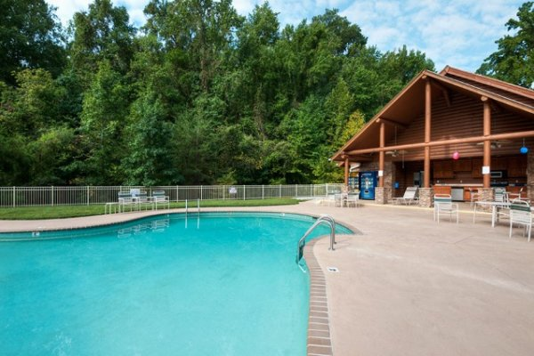 Resort pool access for guests at Allstar Pool Lodge, a 4 bedroom cabin rental located in Pigeon Forge