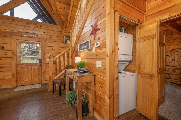 Laundry unit at Livin' Simple, a 2 bedroom cabin rental located in Pigeon Forge