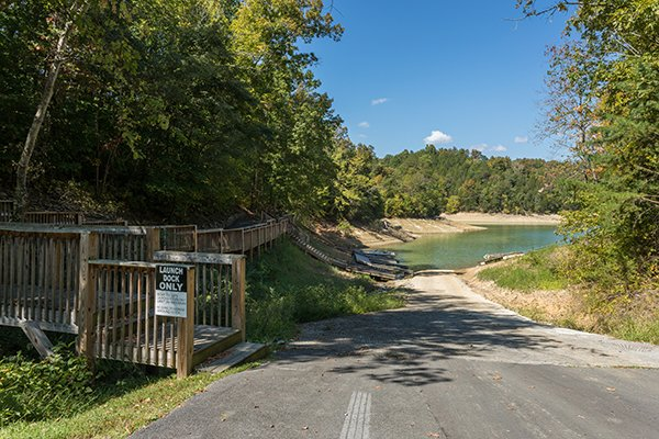 Boat launch access for guests at Top of the Way, a 2 bedroom cabin rental located in Pigeon Forge