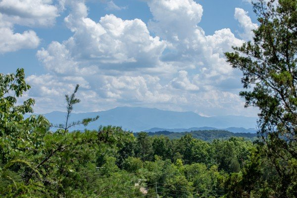 Mountain view at Top of the Way, a 2 bedroom cabin rental located in Pigeon Forge