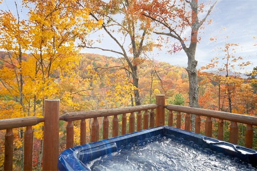 view from hot tub at american dream a 2 bedroom cabin rental located in gatlinburg
