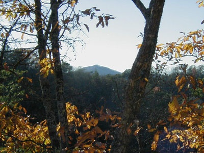 View of the Smoky Mountain tops at Deerly Beloved, a 1-bedroom cabin rental located in Gatlinburg