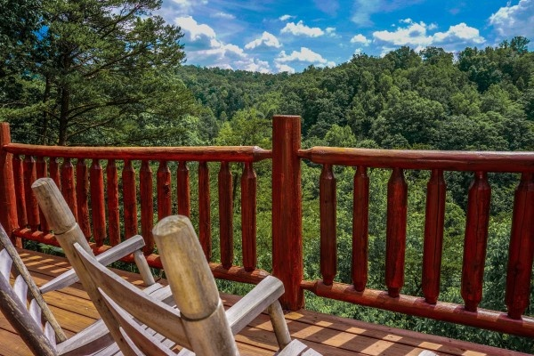 view from deerly beloved a 1 bedroom cabin rental located in gatlinburg