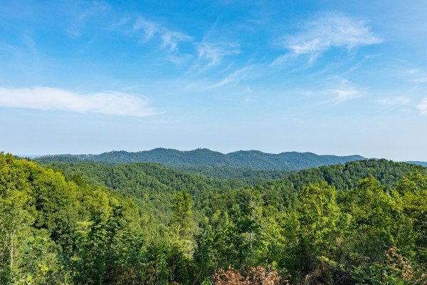 Mountain view from a drone at Bearfoot Adventure, a 2 bedroom cabin rental located in Gatlinburg