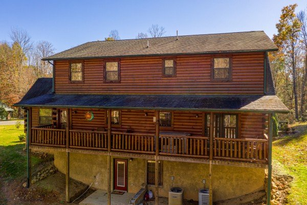 Rear exterior of 3 Crazy Cubs, a 5 bedroom cabin rental located in Pigeon Forge