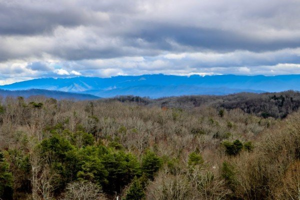 Mountain views from Eagle's Nest, a 2-bedroom cabin rental located in Sevierville